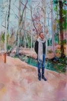 acrylique sur toile, 195x130 cm.