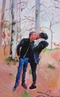 acrylique sur toile, 116x73 cm.